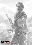 Farcry4 character amita sketch aadi by aadi salman
