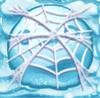 Snowball under cobweb on snow