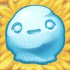 Snowball on hay
