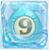 Water bomb 9 under ice