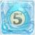 Water bomb 5 under ice