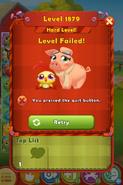 Level 1879 HLevel Quit button