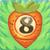 Carrot bomb 8 on grass