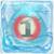 Water bomb 1 under ice