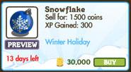 Blue Snowflake Market Info