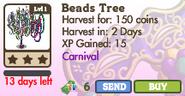 Beads Tree Market Info