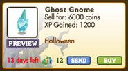 Ghost Gnome Market Info