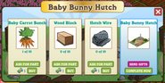 Baby Bunny Hutch Building Materials