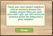 Teddy Bear Gnome Exclusive Notification