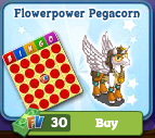 Flowerpower Pegacorn Farm Bingo Pattern