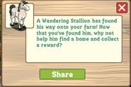 Wandering Stallion New Notification