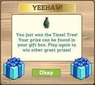 Whimsy tinsel tree