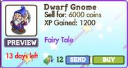 Dwarf Gnome Market Info (July 2012)
