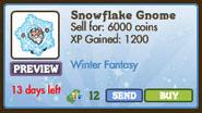 Snowflake Gnome Market Info
