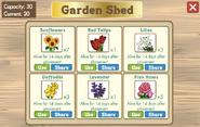 Garden shed inside
