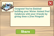 Winter Animal Pen Finished