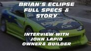 THE BUILDING OF BRIAN'S ECLIPSE