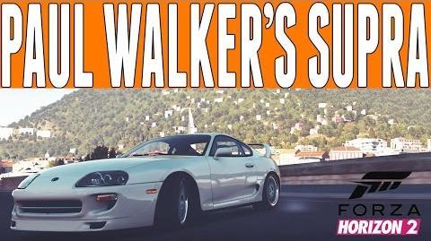 "Forza Horizon 2 Fast & Furious Drifting Paul Walker's Toyota Supra ""Furious 7"""