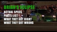 Episode 4 - Brian's Eclipse from The Fast and The Furious