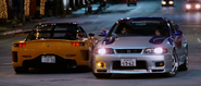 RX-7 VeilSide Fortune & Skyline GT-R (R33)