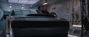 Dom exiting his damaged Challenger Demon (F8 - Cipher's Jet)