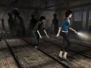 Yoshino shadows attacking Rei