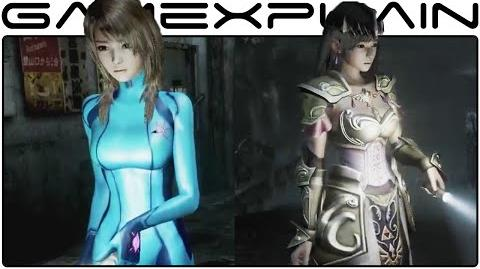 Zelda & Zero Suit Samus Costumes in Fatal Frame Maiden of Black Water (Trailer)