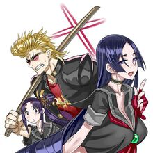 Minamoto no raikou minamoto no raikou sakata kintoki sakata kintoki rider and ushiwakamaru fate grand order and fate series drawn by honjou raita sample-ce80c094668045e6bb9c9050eb075922.jpg