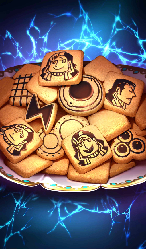 Alternating Current-Style Lightning Cookies