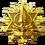 Gold Saber Badge