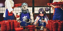 Ushiwakamaru and Benkei - Wanko Soba