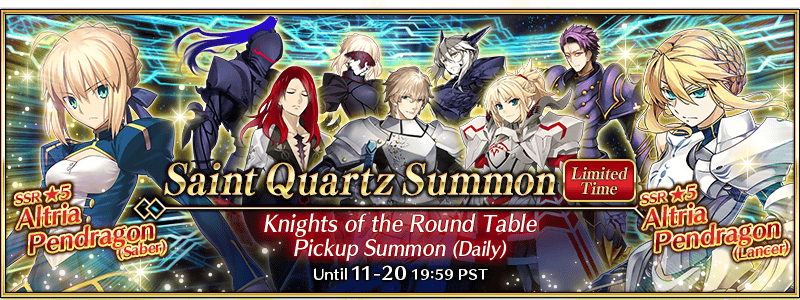 New Interludes and Knights of the Round Table Summon Campaign (US)