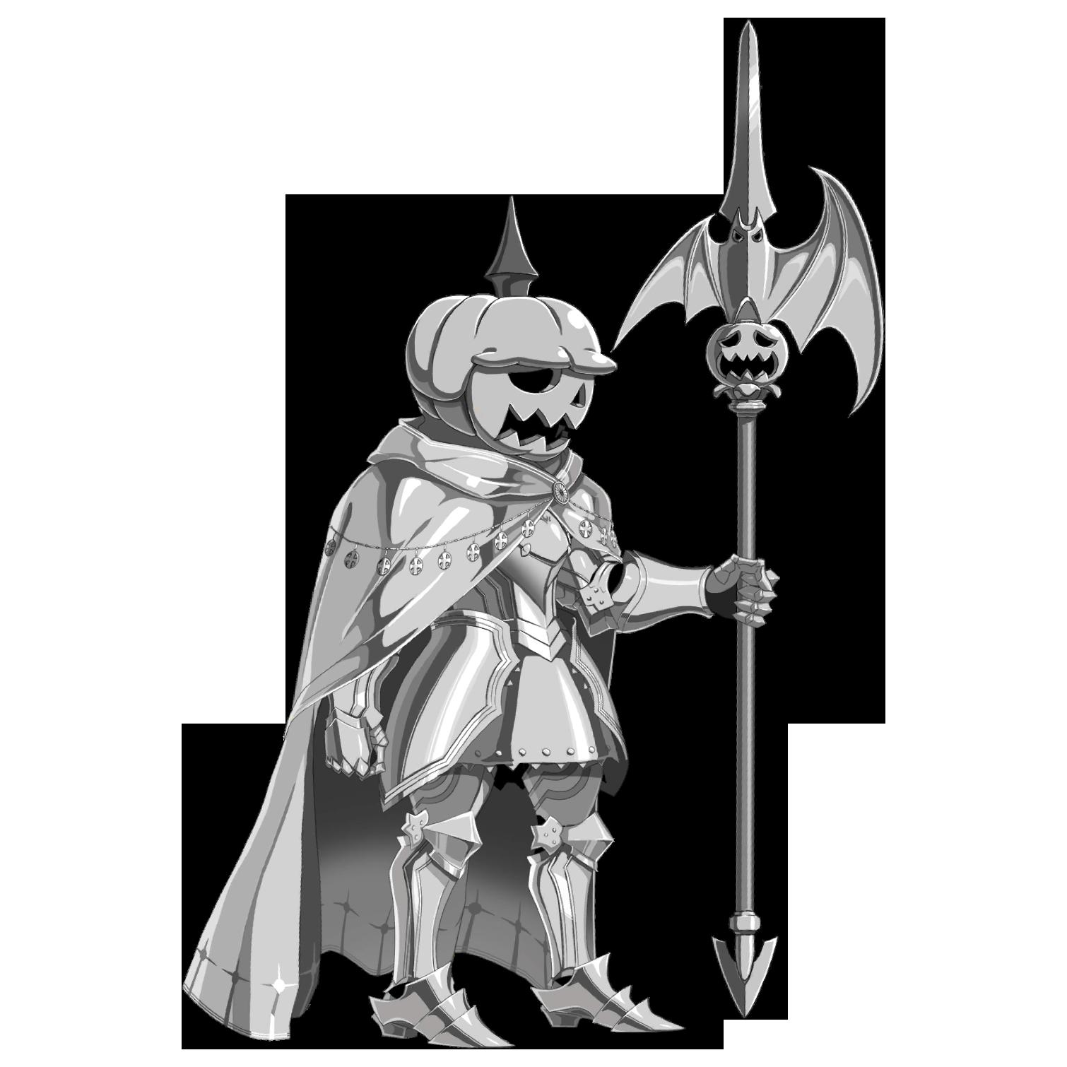 Metal Pumpkin Knight