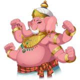 Ganesha NP Stand Pink