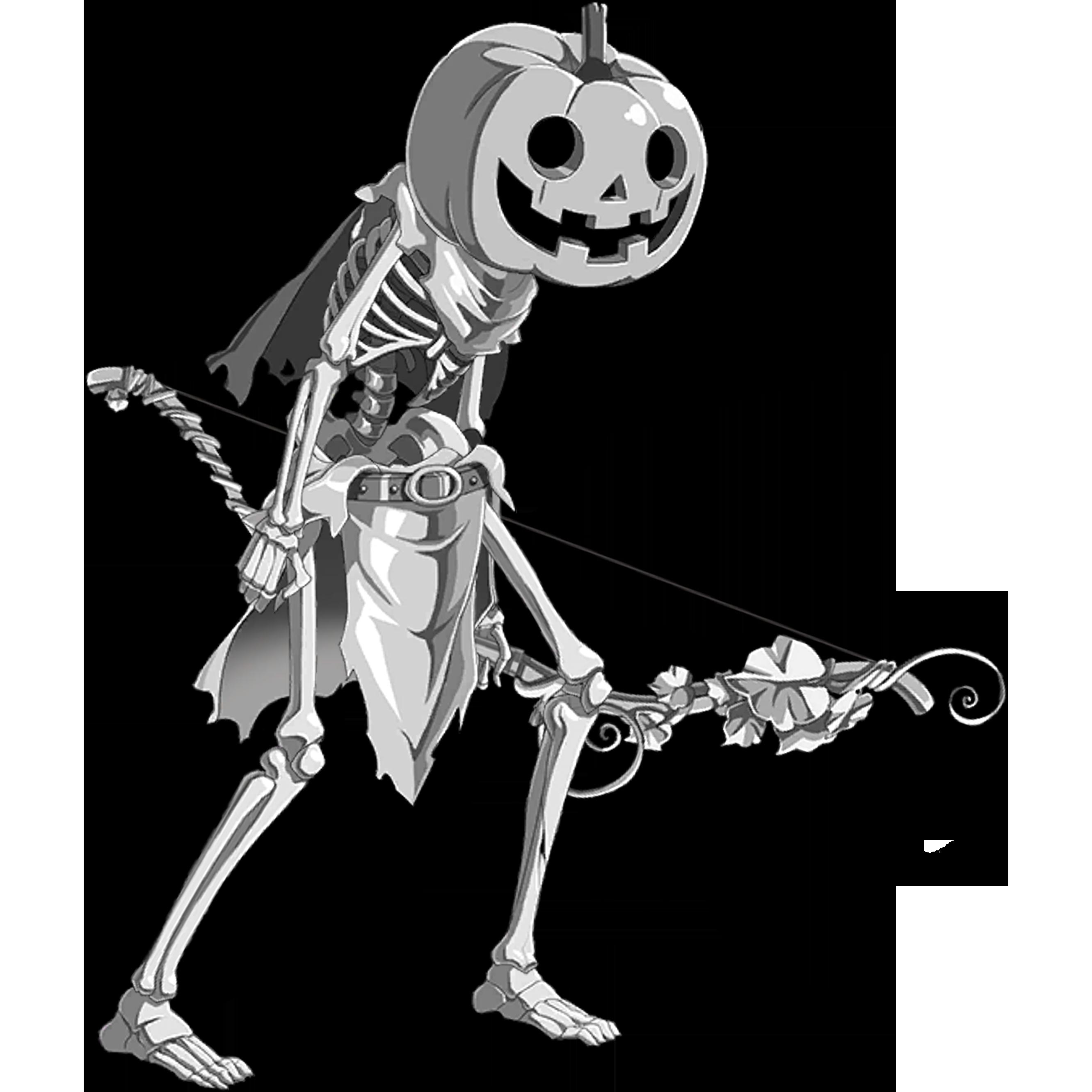 Metal Pumpkin Skeleton