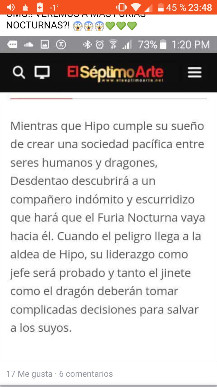 Información de como entrenar a tu dragon 3