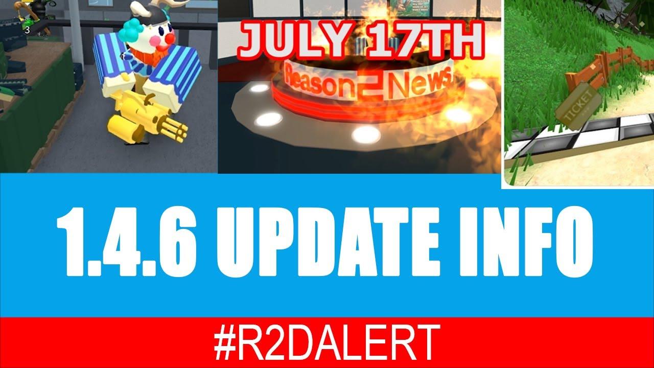 #R2DALERT - 1.4.6 RELEASE DATE - LEAKS - MINI MINIGUN