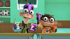 """Fanboy and Chum Chum in """"Wizboy"""", the first episode."""