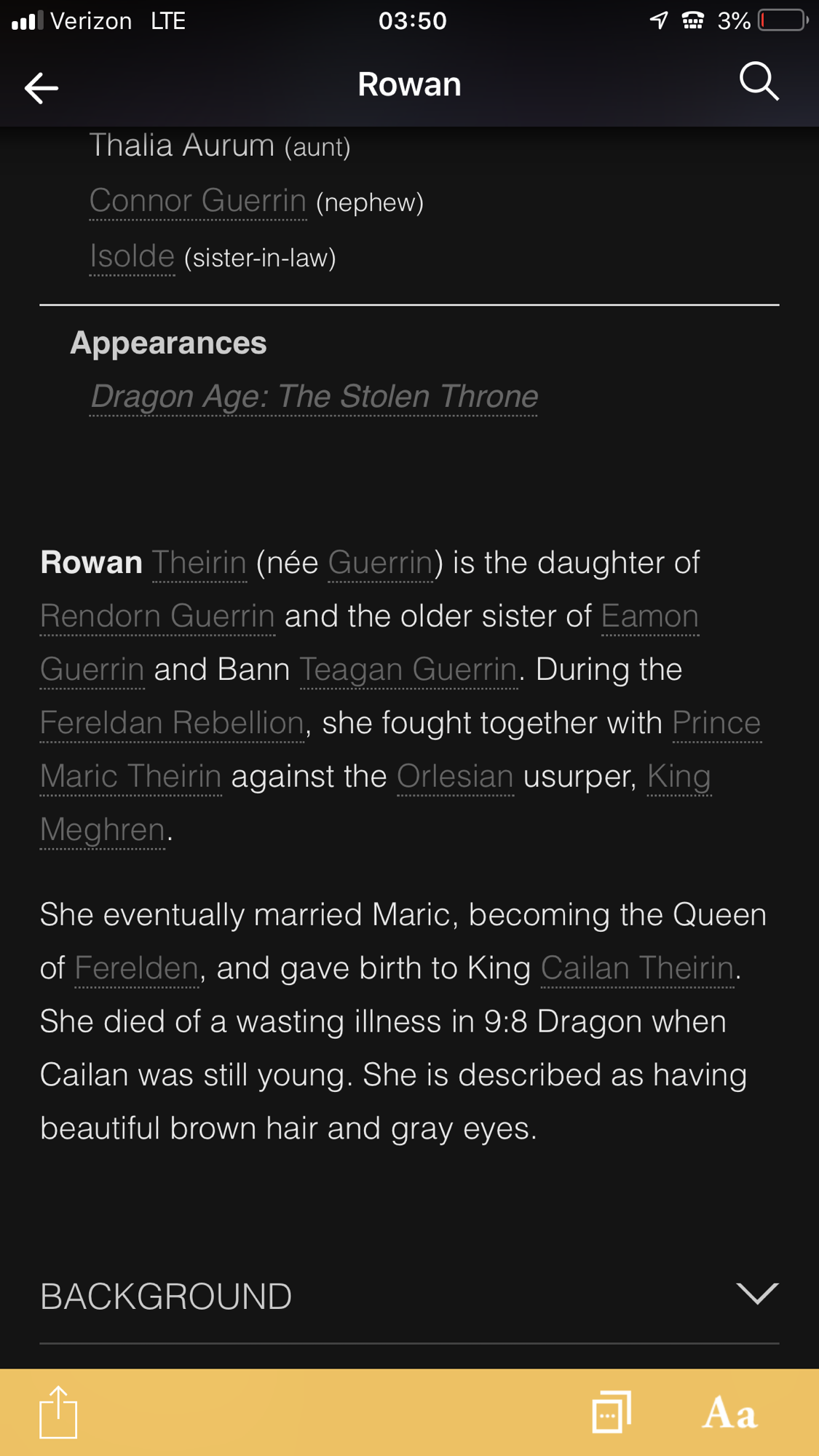 Why did they need to hide Alistair from Rowan if she was already dead?
