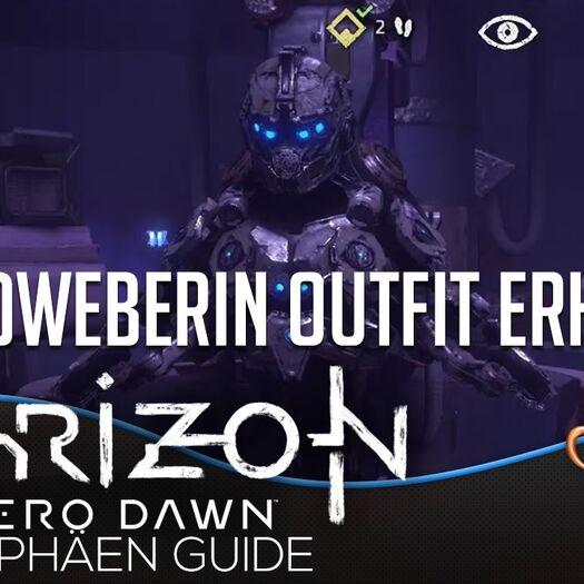 Horizon Zero Dawn Trophäen Guide - Schildweberin Outfit erhalten   Fundorte aller Energiezellen