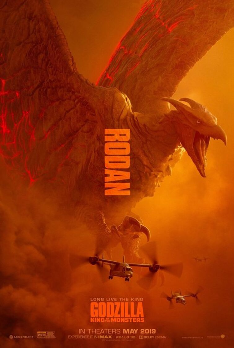Póster 2 de rodan de godzilla el rey de los monstruos 2019