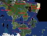 Provisorische Grenzen des Herzogtums