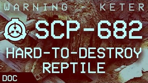 """SCP-682 - """"Hard-to-Destroy Reptile"""" Object class - Keter ❗ (by Max Lombardi)"""