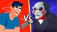 YOU vs JIGSAW (Saw Movie) Could You Defeat and Survive Him? FUNNY ANIMATION CHALLENGE