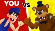 YOU vs FREDDY FAZBEAR - Could You Defeat And Survive Him? (Five Nights At Freddy's FNAF Video Game)-0