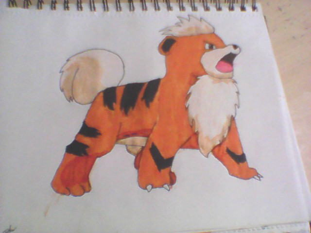 What do you think about my growlithe drawing?