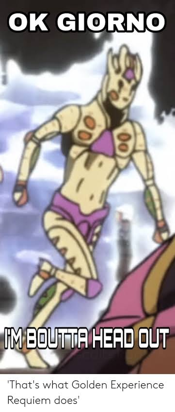 Can You Truly Return Infinity To Zero Answer Me Giorno Giovanna