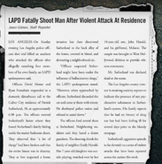 LAPD Shoot Man