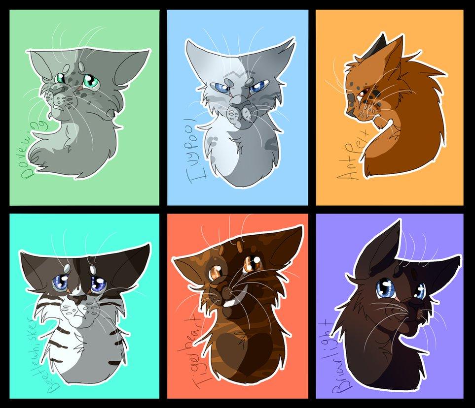 картинки коты воители рисунки персонажей наследники опрятно одеты