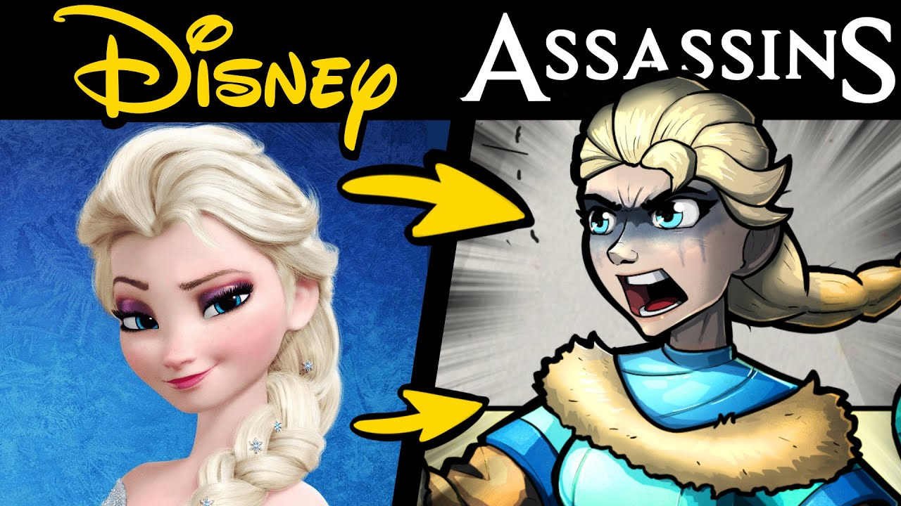 What if DISNEY HEROES Were in ASSASSIN'S CREED?! (Stories & Speedpaint)